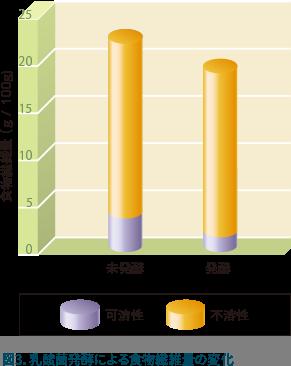乳酸菌発酵による食物繊維量の変化