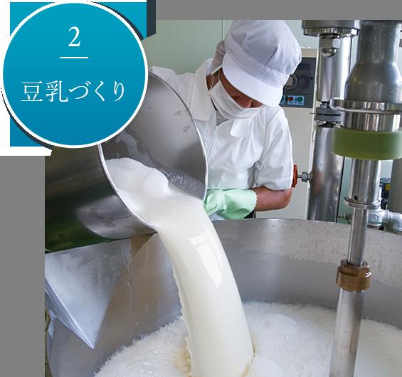 2.豆乳づくり